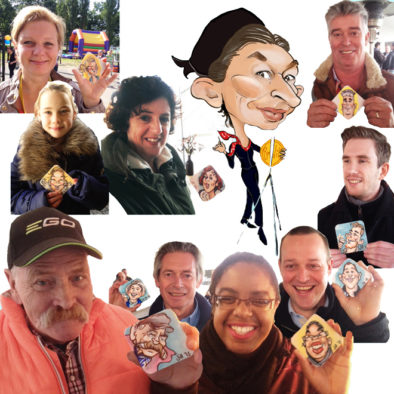 Sneltekenaar, karikaturist, sneltekenen, portret tekenen, karikatuur tekenen, artiesten boeken, entertainment, themafeest, tekenen op bierviltjes, schilderen, portretten, digitaal karikatuur tekenen, Govers Evenementen