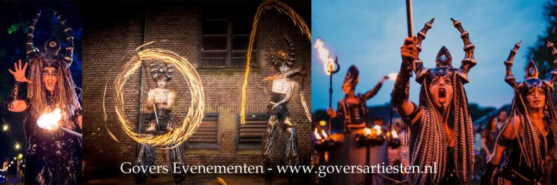 Vuurshow, vuuranimatie, vuurspuwers, themafeest, vuurvreter, vuurspuger, vuurspuwer, Govers Evenementen, Valentijnshow, Wedding show
