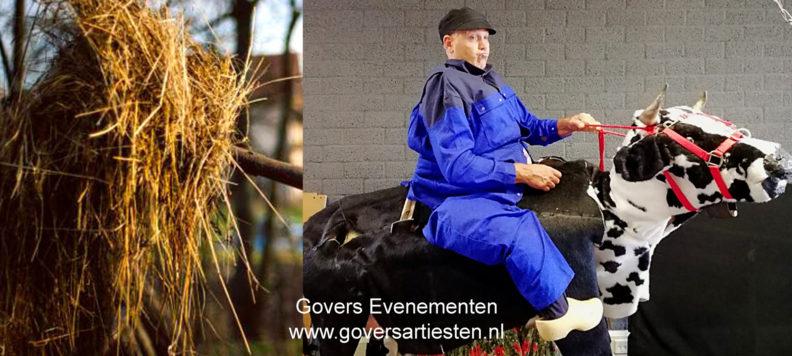 Boer Blauw, straattheater act, humor, interactie, interactieve straattheater, theater voor kinderen, acteur, thema act, theater festival, Govers Evenementen