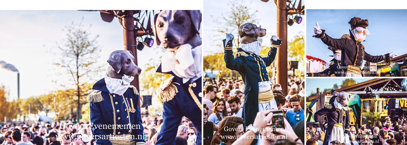straattheater honden op stelten, dieren op stelten, schilderij op stelten, Thierry Poncelet, trouwe honden, dier, beesten, beesten op stelten, dierentuin, feest op stelten, hondenshow, steltentheater, steltenlopers, steltenact, artiesten boeken, dog, dog's, artiestenbureau, thema feest, straattheater, steltentheater, act, Govers Evenementen, www.goversartiesten.nl