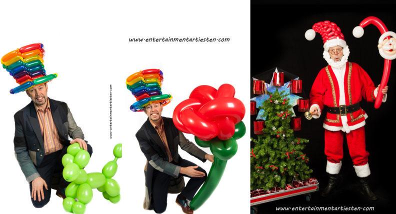 De ballonnenartiest Guido maakt voor kinderen allerlei vrolijke dieren van gekleurde ballonnen: Kinderprogramma, www.goversartiesten.nl