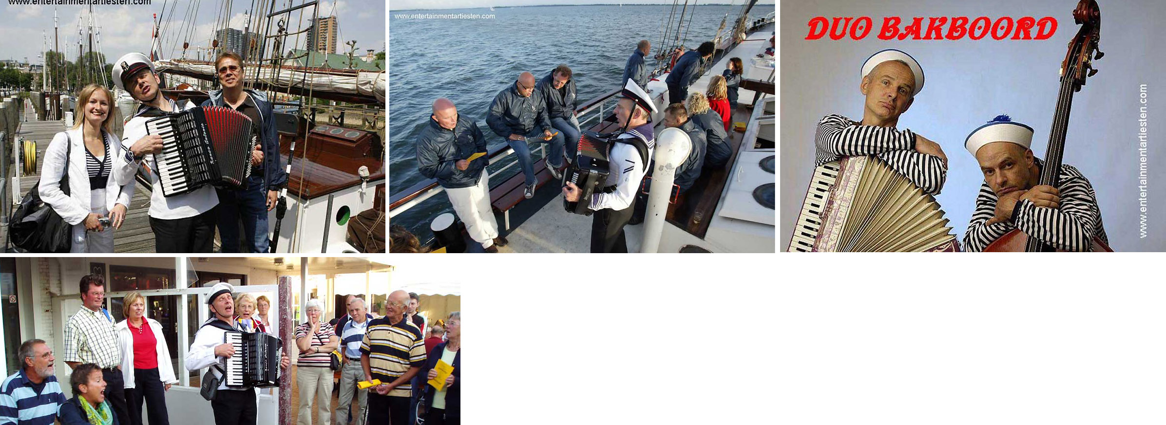 Nautisch- Maritiem entertainment, havenliederen, muzikanten, accordeon, havenmuziek, www.goversartiesten.nl
