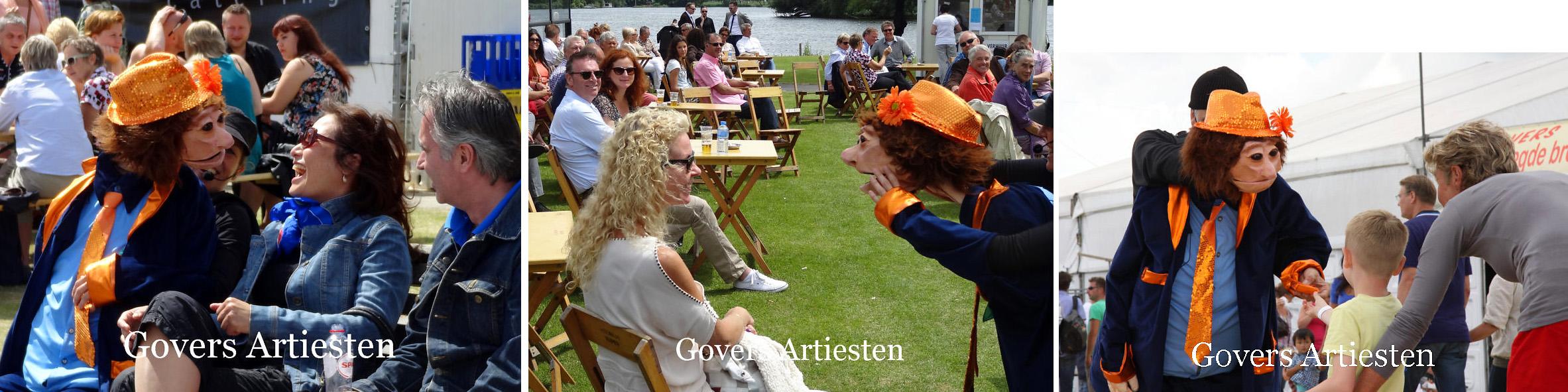 Fred, Straattheater, poppentheater, Govers Artiestenbureau, voorstelling, artiesten boeken, inhuren artiest, www.goversartiesten.nl