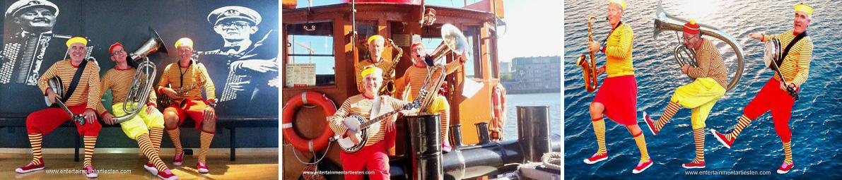 Scheepsmaatjes, sfeervol muziektrio en veel gevraagd als Looporkest - straatmuzikanten, www.goversartiesten.nl