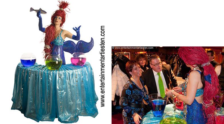 Nautisch- Maritiem Entertainment op Partyboot, De Zie meermin verteld alle raadsel van Atlantis, www.goversartiesten.nl