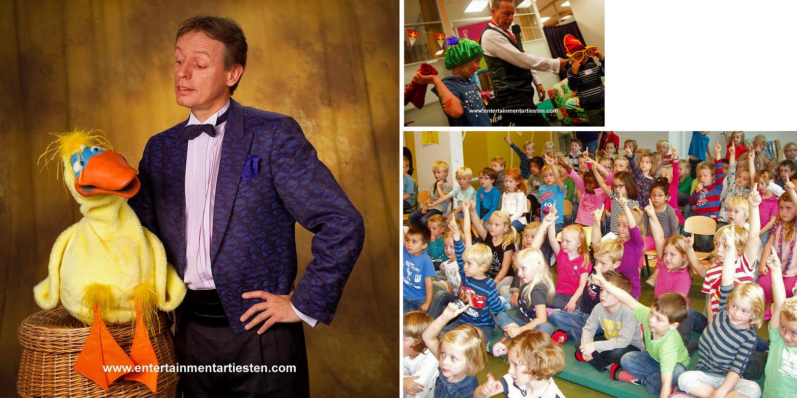 Publiek van John's voorstelling, de leukste Tafel goochelaar en kinderprogramma !, kindertheater, straattheater, kindervoorstelling, goochelaar, buikspreken, artiesten boeken, kinderfeestje organiseren, Govers Evenementen, www.goversartiesten.nl