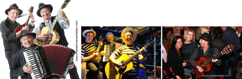 Huwelijksfeest entertainment: Dit muziekduo of muziektrio speelt Napolitaanse klassiekers + Italiaanse hits, muzikanten, Govers Evenementen, www.goversartiesten.nl