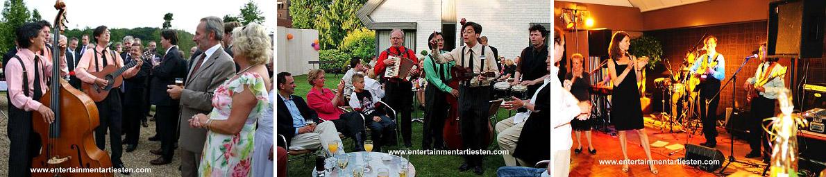 The Rilliato's, een akoestische loop-act, muziekgroep, muzikanten geschikt voor het huwelijk feest of trouwparty, Govers Evenementen, www.goversartiesten.nl