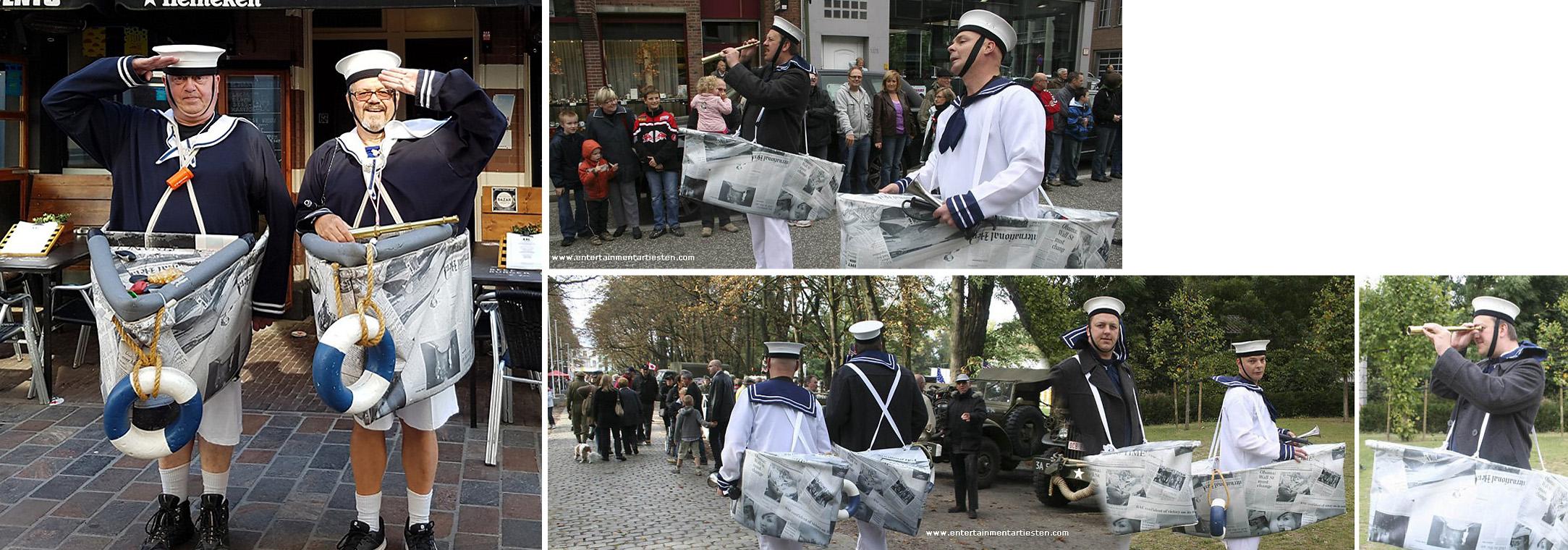 De Animatie Matrozenleed is Nautisch- & Maritiem Entertainment van twee matrozen die hun moederschip kwijt zijn, www.goversartiesten.nl