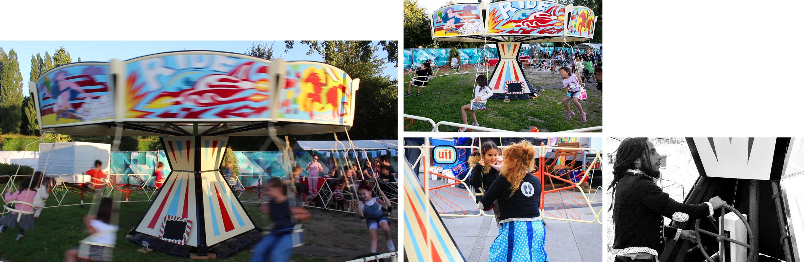 Kinder-zweefmolen, zweefmolen, zweefmolenverhuur, draaimolen, kinderfeesten, attracties, straatspeeldag. kinderfeest, kinderfeestje organiseren, Govers Evenementen, www.goversartiesten.nl