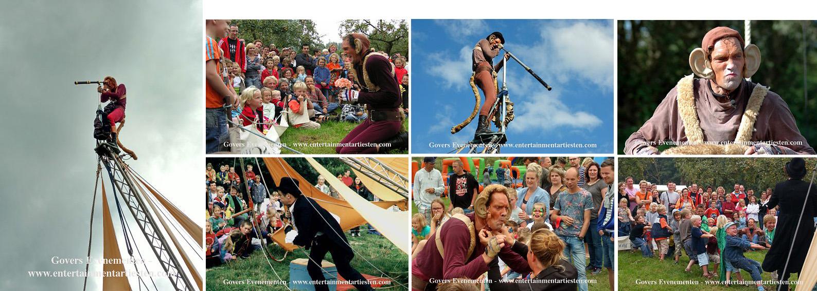 Acrobatiek Straattheater kindertheater, kinderfeestje organiseren, artiesten boeken, artiesten inhuren, festival entertainment, Govers Evenementen, www.goversartiesten.nl