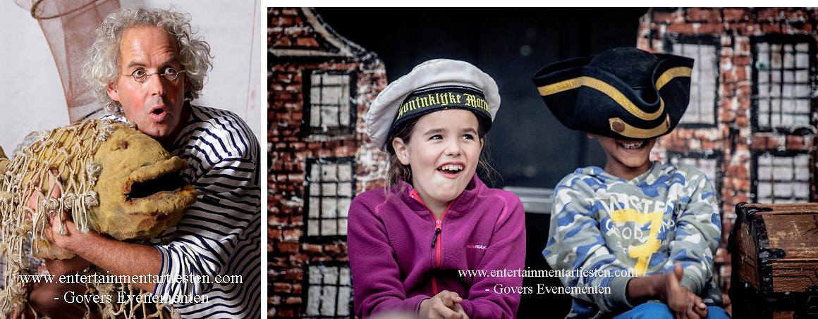 Naar Zee, theatervoorstelling voor kinderen, kindertheater, artiesten, theater, Govers Evenementen, straattheater, www.goversartiesten.nl