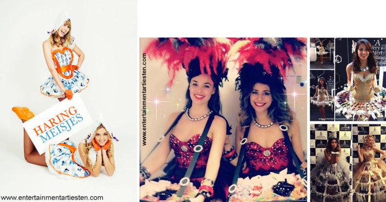 Zodra het nieuwe Haringseizoen is aangebroken verschijnen ook onze haringmeisjes. De dames komen gekleed in Hollandse kledij, om deze heerlijke zilte delicatesse aan uw gasten en genodigden uit te delen Nautisch- & Maritiem Entertainment: De haringmeisjes delen uw zilte delicatesse uit !, www.goversartiesten.nl