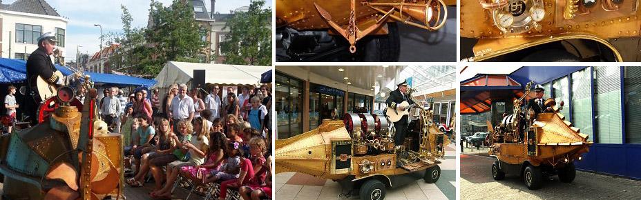 De Zingende Kapitein, Nautisch- & Maritiem Entertainment, thema havendagen, muzikant, artiesten boeken, straattheater, visserijdagen, artiestenbureau, www.goversartiesten.nl