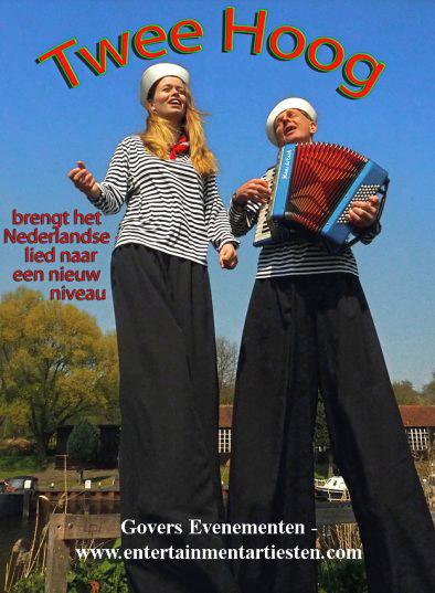 Nederlands en nautische liederen, muzikanten op stelten, Twee Hoog, havendagen, havenmuziek, www.goversartiesten.nl