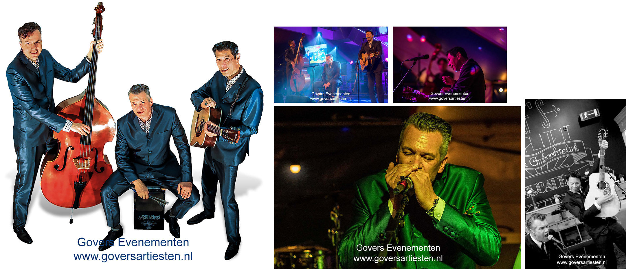 Muzikanten-Bands : Full Swing speelt classic hits uit vervlogen jaren. Akoestische/mobiele trio, bandje, muziektrio, artiesten boeken, artiestenbureau, thema feest, muzikanten, band, Govers Evenementen, www.goversartiesten.nl