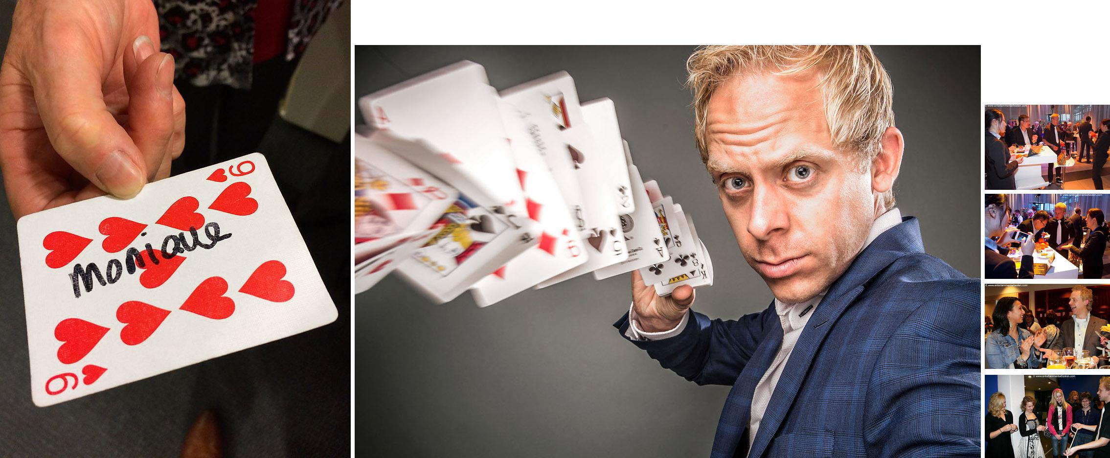 Goochelaar & tafelgoochelaar, gezellig entertainment voor feest of jubileum, goochel entertainment, goochelen, illustionist, artiesten boeken, Govers Evenementen, www.goversartiesten.nl
