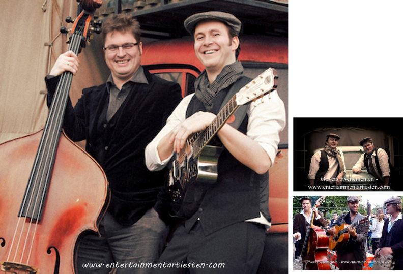 The Barclay Brothers muzikanten spelen heerlijke swingende muziek voor recepties, feesten en party's, muziekduo, muzikanten huren, artiesten boeken, muziek entertainment, Govers Evenementen, www.goversartiesten.nl
