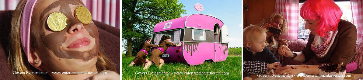 Het Chocolade Welness moment, culinair entertainment, een verwennerij, straattheater, themafeest, festival, artiesten boeken, artiestenbureau, evenement, Govers Evenementen, www.goversartiesten.nl