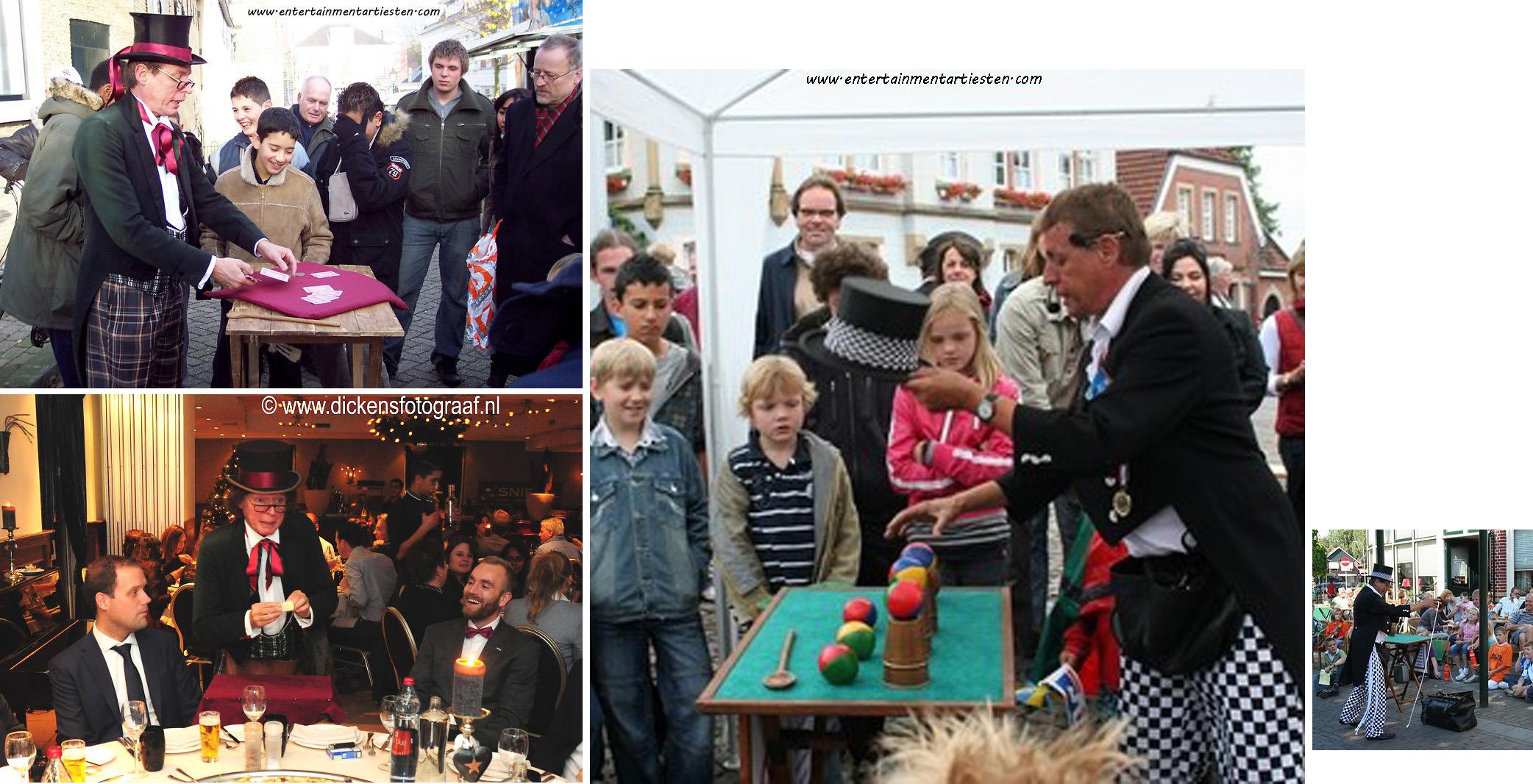 Goochelaar - Tafelgoochelen ook geschikt als straatgoochelaar, entertainment boeken, straattheater, artiesten inhuren, Govers Evenementen, www.goversartiesten.nl