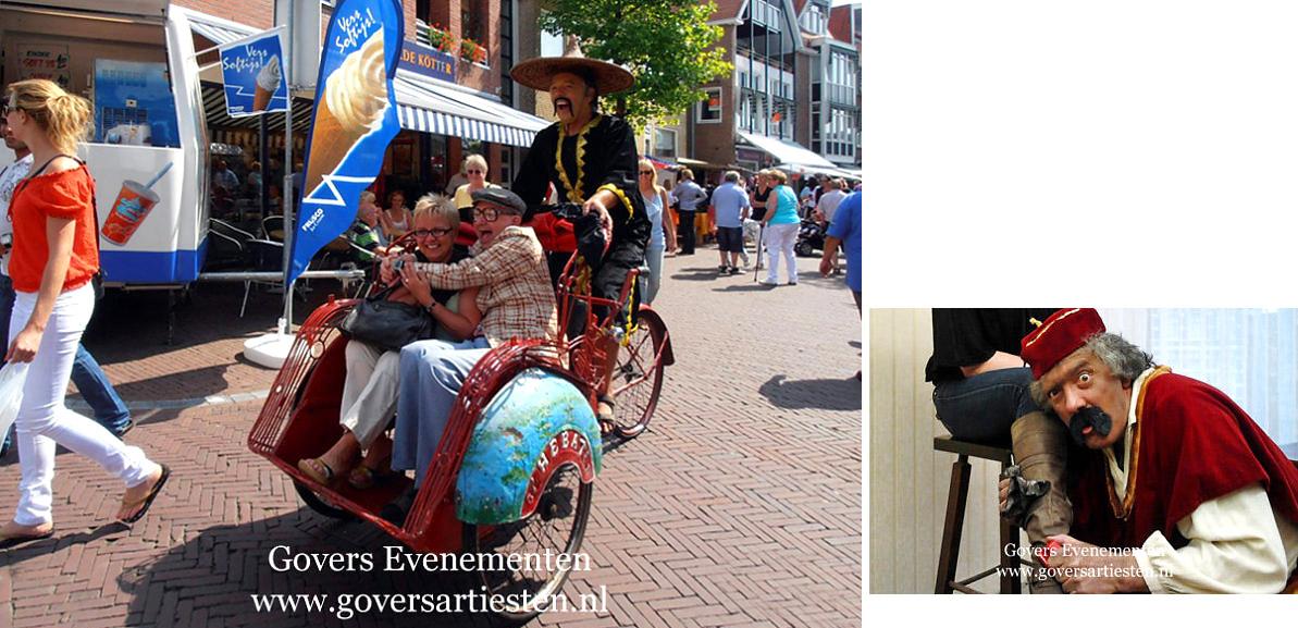 Oosters Entertainment, artiesten boeken, komiek, acteur, vervoer, straattheater, act, humor op uw feest, acteur gezocht, vermaak, thema feest, Govers Evenementen, www.goversartiesten.nl