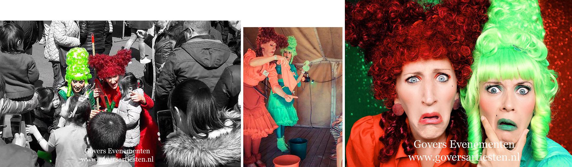 Poets Tantes, straattheater, artiesten boeken, artiestenbureau, thema feest, straattheater, steltentheater, Voorjaar, zomer act, Govers Evenementen, www.goversartiesten.nl