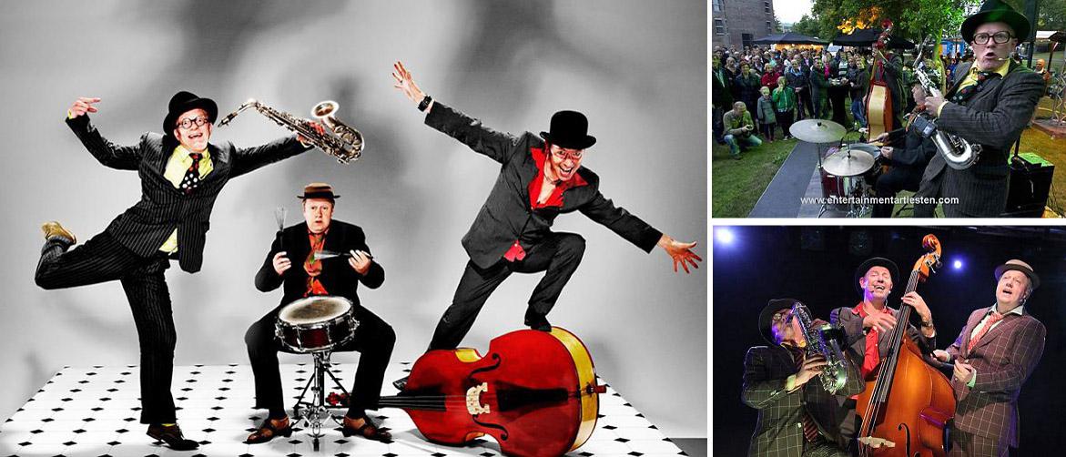 Ongeplande acrobatiek, muzikale hoogstandjes, genante momenten, vette blazers onvervalste slapstick en betoverende mannenstemmen. Muzikanten Bands, Govers Evenementen, www.goversartiesten.nl