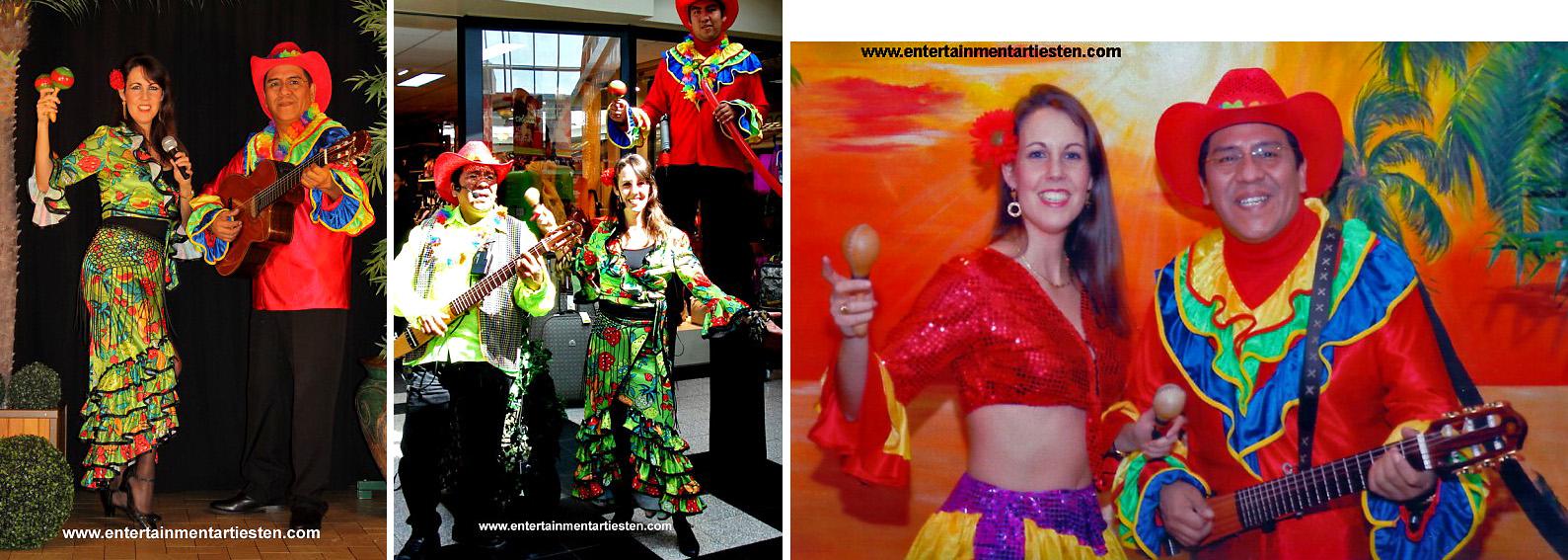 Spaanse-Mexicaanse-Latino muziekduo. Zij brengen heerlijke zonnige muziek met een hoog 'Costa del Sol' en 'Gypsy Kings' gehalte voor een echt vakantiegevoel, Govers Evenementen, www.goversartiesten.nl