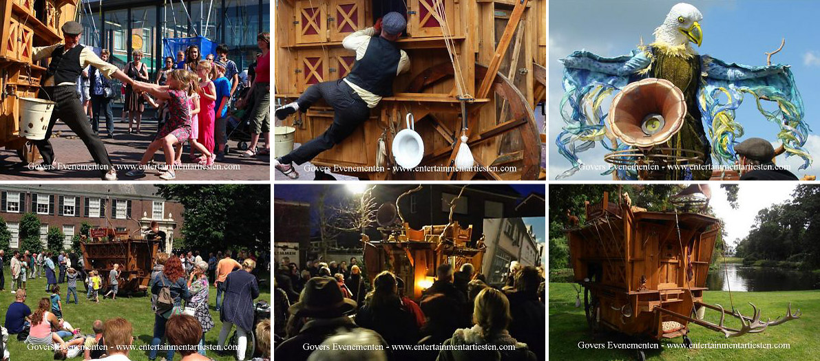 Het Carnaval der Dieren, straattheater spectakel, straattheater, artiesten boeken, theater voor kinderen, theaterbureau, artiestenbureau, artiestenburo, festival, themafeest, Govers Evenementen, www.goversartiesten.nl