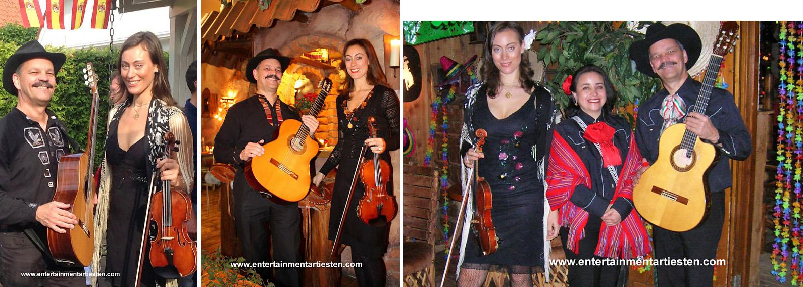 Corazon, een vurige Spaanse rumba's, swingende Cubaanse son overgoten met een salsa van passionele Mexicaanse levensliederen en een snufje gipsy jazz, geserveerd met romantische Italiaanse ballades, muzikanten boeken, muziekduo, artiesten boeken, Govers Evenementen, www.goversartiesten.nl