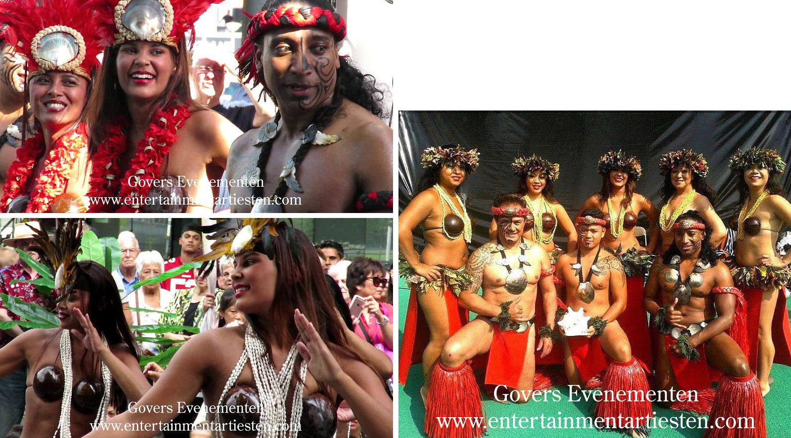 Hawaiians, Hawai dansgroep, muziek, artiesten boeken, Polinesische muziek en dans, Govers Evenementen, www.goversartiesten.nl