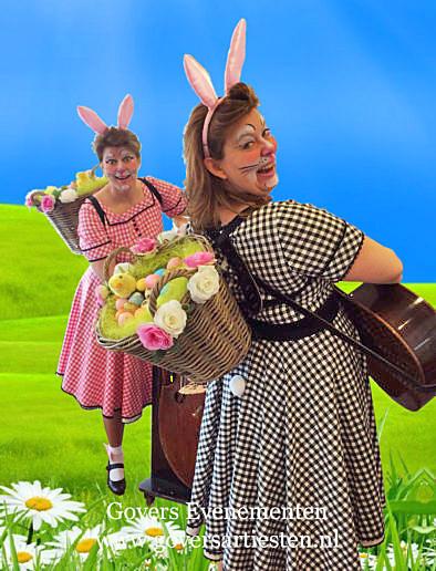 Muzikanten, muziek voor pasen, act voor pasen, paasdagen, paasmuziek, straatmuziek, muziekduo, bandje, duo muziek, Govers Evenementen, www.goversartiesten.nl