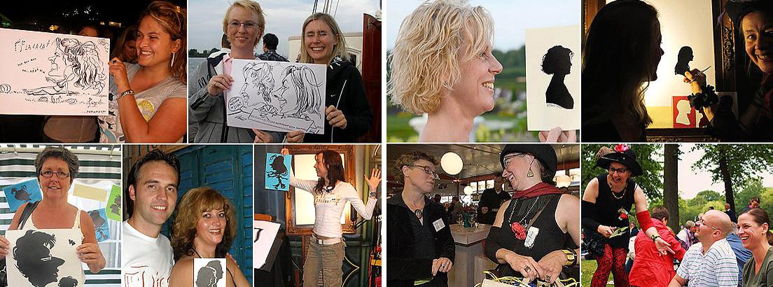 Portretknipster - silhouette knippen, sneltekenaar- karikaturist, portret tekenen, karikatuur portretten, portret, thema feest, evenement organiseren, artiesten boeken, artiestenburo, artietenbureau, beurs- en promotie acts, evenementenbureau, entertainment, tekeningen, portret tekenen, karikaturist, Govers Evenementen, www.goversartiesten.nl
