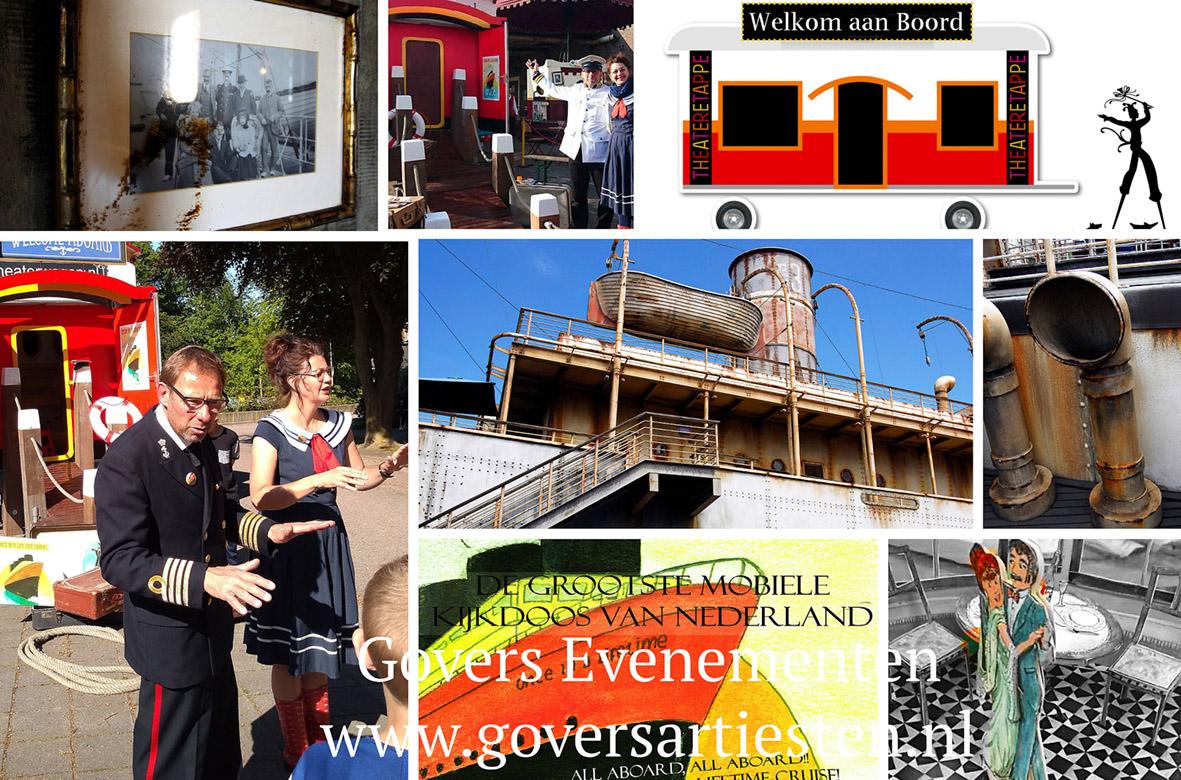 straattheater, Nautisch entertainment, kindervoorstelling, optredens, artiesten boeken, theater op straat, Govers Evenementen, www.goversartiesten.nl
