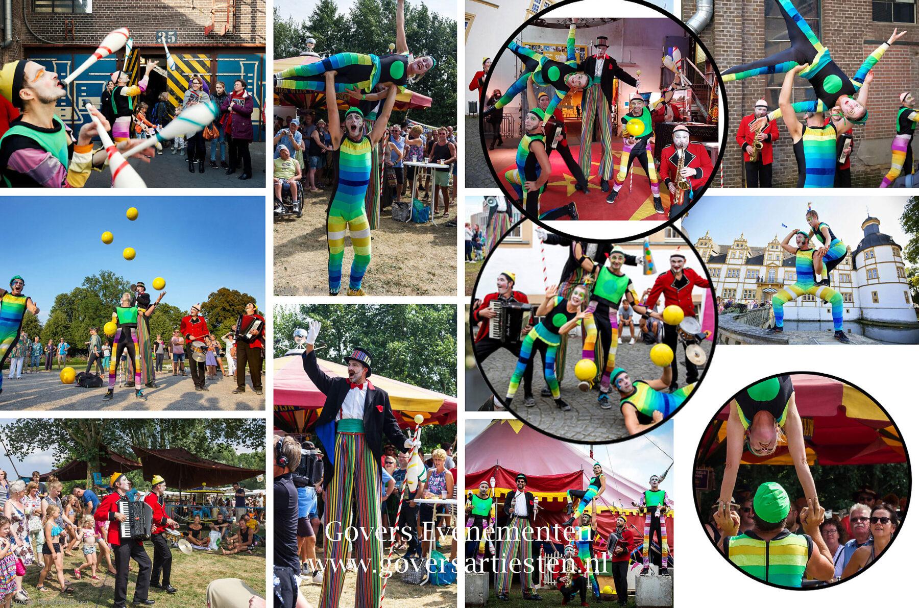 Circus Kolderiek, jongleurs, jongleren, Jongleren op de fiets, Straattheater, Openingsact, festival entertainment, artiesten boeken, artiestenbureau, themafeest, straatact, jongleurs, Govers Evenementen, www.goversartiesten.nl